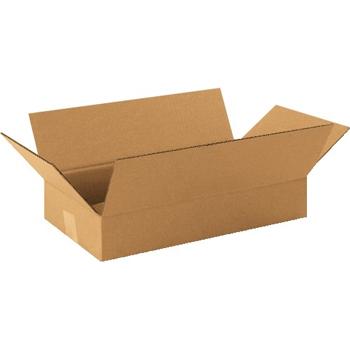 """W.B. Mason Co. Long Corrugated boxes, 16"""" x 9"""" x 3"""", Kraft, 25/BD"""