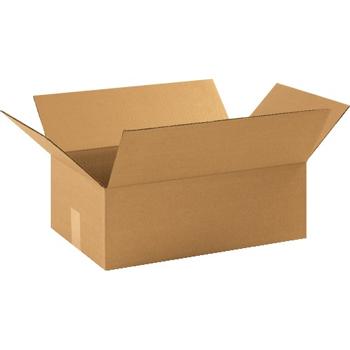 """Corrugated boxes, 17 1/4"""" x 11 1/2"""" x 6"""", Kraft, 25/BD"""