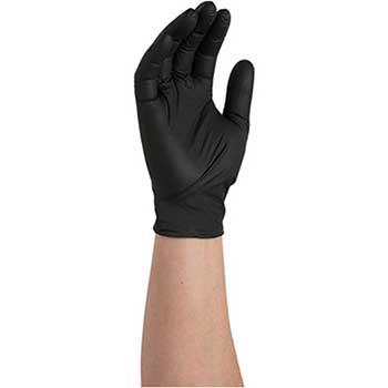 Auto Supplies Black Nitrile Gloves, Large, Powder Free, 100/BX
