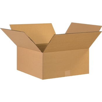 """W.B. Mason Co. Corrugated boxes, 17"""" x 17"""" x 8"""", Kraft, 20/BD"""