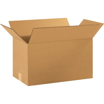 "Corrugated boxes, 18"" x 10"" x 10"", Kraft, 25/BD"