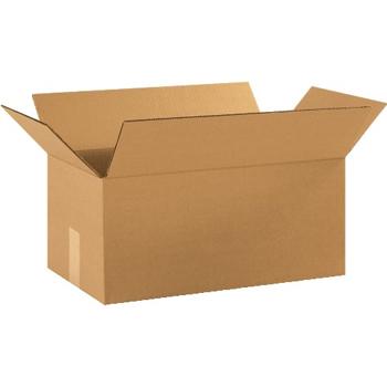 """W.B. Mason Co. Corrugated boxes, 18"""" x 10"""" x 8"""", Kraft, 25/BD"""