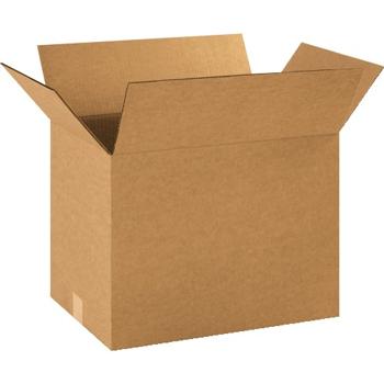 """Corrugated boxes, 18"""" x 12"""" x 14"""", Kraft, 25/BD"""