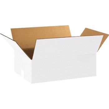 """W.B. Mason Co. Corrugated boxes, 18"""" x 12"""" x 6"""", White, 25/BD"""