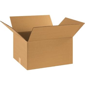 """W.B. Mason Co. Corrugated boxes, 18"""" x 14"""" x 10"""", Kraft, 25/BD"""
