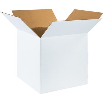 """W.B. Mason Co. Corrugated boxes, 18"""" x 18"""" x 18"""", White, 20/BD"""