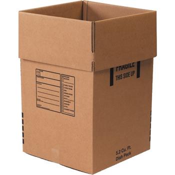 """W.B. Mason Co. Dish Pack boxes, 18"""" x 18"""" x 28"""", Kraft, 5/BD"""