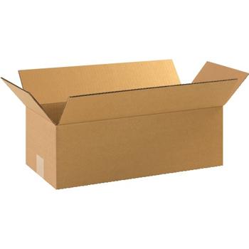 """W.B. Mason Co. Corrugated boxes, 18"""" x 8"""" x 4"""", Kraft, 25/BD"""