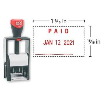 "COSCO 2000PLUS® Custom Heavy Duty Self-Inking Dater, 2160, 15/16"" x 1 9/16"""