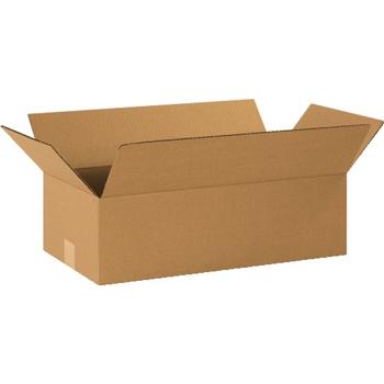 """W.B. Mason Co. Long Corrugated boxes, 20"""" x 10"""" x 6"""", Kraft, 25/BD"""