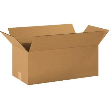 """Long Corrugated boxes, 20"""" x 10"""" x 8"""", Kraft, 20/BD"""