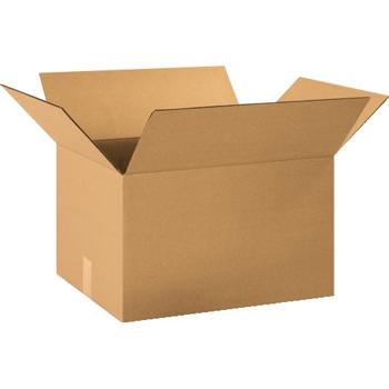 """W.B. Mason Co. Corrugated boxes, 20"""" x 15"""" x 12"""", Kraft, 25/BD"""