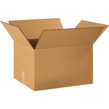 """W.B. Mason Co. Corrugated boxes, 20"""" x 16"""" x 12"""", Kraft, 25/BD"""