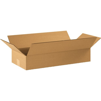 "W.B. Mason Co. Flat Corrugated boxes, 22"" x 10"" x 4"", Kraft, 25/BD"