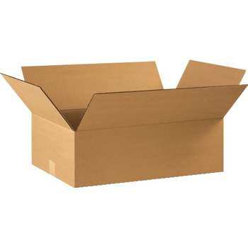 """Corrugated boxes, 22"""" x 14"""" x 8"""", Kraft, 25/BD"""