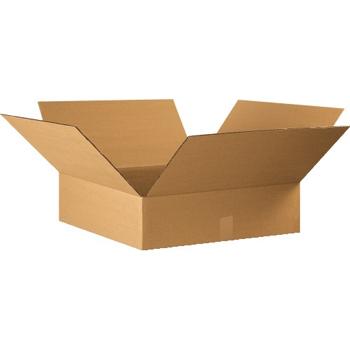 """W.B. Mason Co. Flat Corrugated boxes, 22"""" x 22"""" x 6"""", Kraft, 20/BD"""