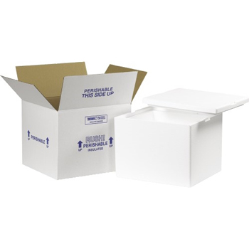 "W.B. Mason Co. Insulated Shipping Kits, 12"" x 10"" x 9"", White, 1/CT"