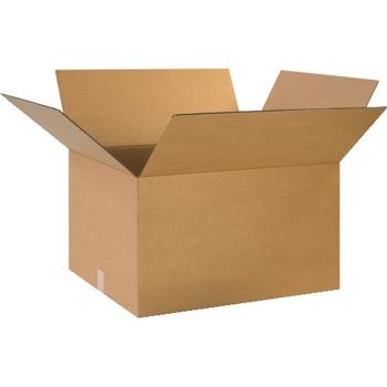"""W.B. Mason Co. Corrugated boxes, 24"""" x 20"""" x 14"""", Kraft, 10/BD"""