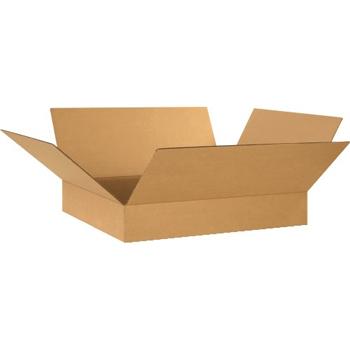 """W.B. Mason Co. Flat Corrugated boxes, 24"""" x 20"""" x 4"""", Kraft, 20/BD"""