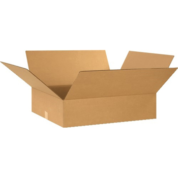 "Flat Corrugated boxes, 24"" x 20"" x 6"", Kraft, 20/BD"
