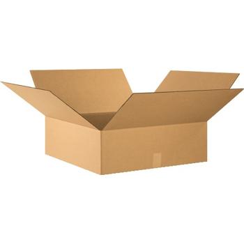 """W.B. Mason Co. Flat Corrugated boxes, 24"""" x 24"""" x 8"""", Kraft, 20/BD"""