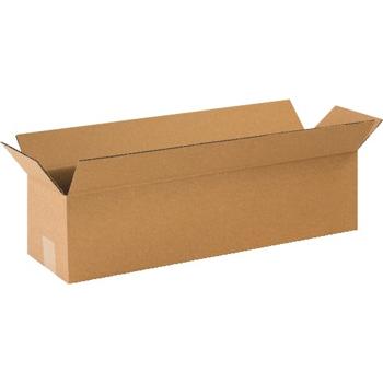 """W.B. Mason Co. Long Corrugated boxes, 12"""" x 3"""" x 3"""", Kraft, 25/BD"""