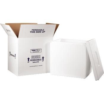 "Insulated Shipping Kits, 18"" x 14"" x 19"", White"