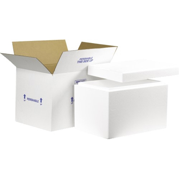 """Insulated Shipping Kits, 19"""" x 12"""" x 12 1/2"""", White, 1/CT"""
