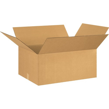 "Corrugated boxes, 26"" x 22"" x 12"" Kraft, 15/BD"