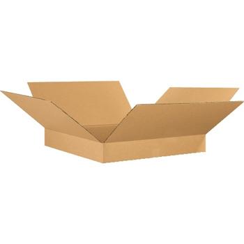"""W.B. Mason Co. Flat Corrugated boxes, 26"""" x 26"""" x 4"""", Kraft, 20/BD"""