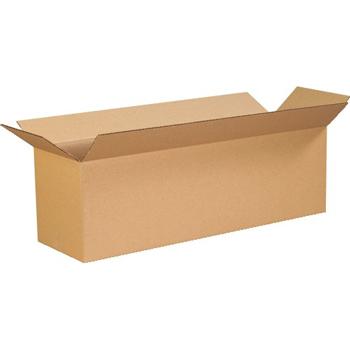 """Long Corrugated boxes, 26"""" x 8"""" x 8"""", Kraft, 25/BD"""