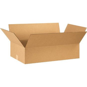"W.B. Mason Co. Flat Corrugated boxes, 28"" x 16"" x 7"", Kraft, 20/BD"