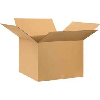 """W.B. Mason Co. Corrugated boxes, 28"""" x 28"""" x 22"""", Kraft, 10/BD"""