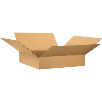 """W.B. Mason Co. Flat Corrugated boxes, 28"""" x 28"""" x 6"""", Kraft, 20/BD"""