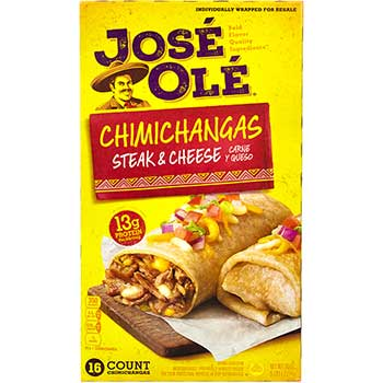 José Olé® Steak & Cheese Chimichangas, 16/CT
