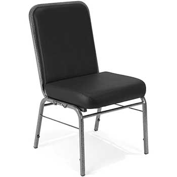 OFM™ Comfort Class Series Anti-Microbial/Anti-Bacterial Vinyl Stack Chair, Black