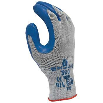 ATLAS General Purpose Gloves, Natural Rubber, Large, Blue, 12/PK