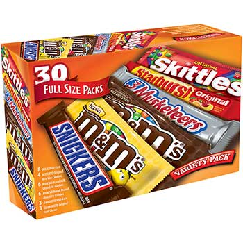 M & M's® Chocolate and Candy Full Size Variety Pack, 30 Count