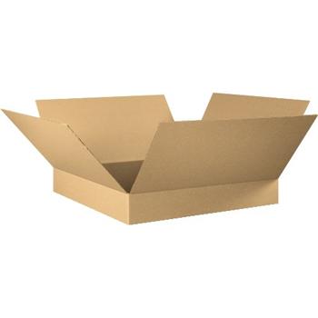 """W.B. Mason Co. Flat Corrugated boxes, 30"""" x 30"""" x 6"""", Kraft, 15/BD"""