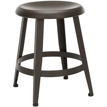 """OFM™ Core Collection Edge Series 18"""" Table Height Metal Stool, Antique Brown"""