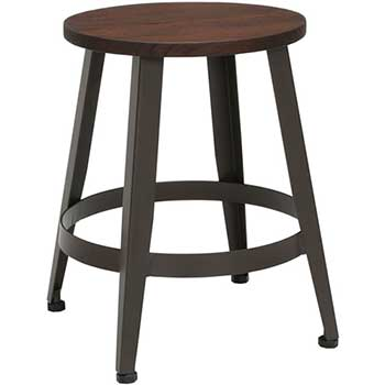 "Core Collection Edge Series 18"" Table Height Metal Stool, Walnut"