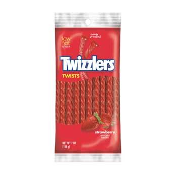 Strawberry Twists Peg Bag, 7 oz., 12/CS