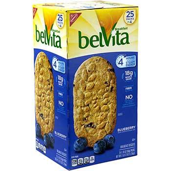 Nabisco® belVita Breakfast Biscuits, Blueberry, 1.76 oz., 25/PK