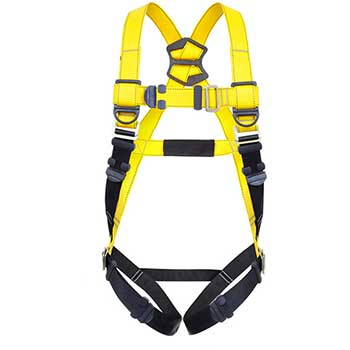 Guardian Fall Protection Series 1 Full-Body Harness, PT Chest/PT Legs, Polyester/Steel, M/L