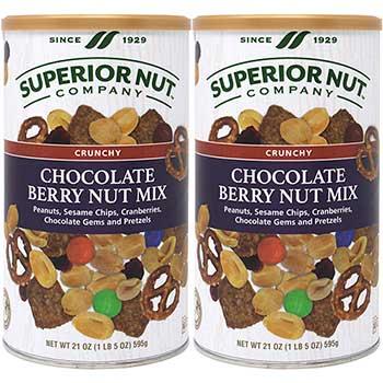 Superior Nut Company™ Crunchy Chocolate Berry Nut Mix, 21 oz., 2/PK
