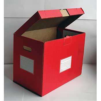 Auto Supplies Color Code File Folder Storage Box, 5/PK