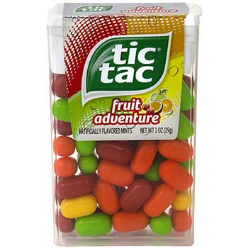 Tic Tac® Fruit Adventure Singles, 12/PK
