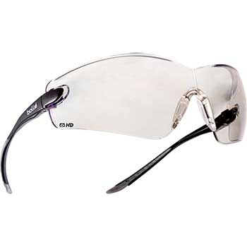 Cobra Safety Glasses, Rimless, Anti fog, HD
