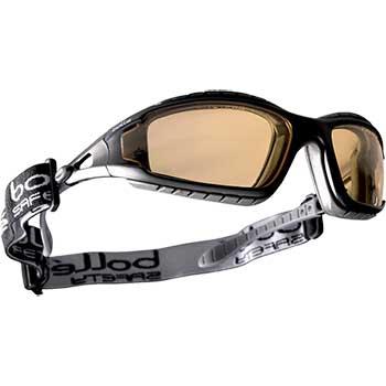 Bollé Safety Tracker Safety Glasses, Removable Foam, ASAF Twilight Lens