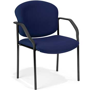 OFM™ 404-804 Manor Series Deluxe Upholstered Stacking Guest Chair, Navy